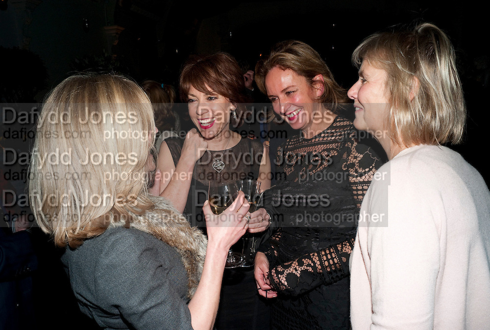 RACHEL JOHNSON; KATHY LETTE; CAROLINE MICHEL; PHILIPPA WALKER, Party for Perfect Lives by Polly Sampson. The 20th Century Theatre. Westbourne Gro. London W11. 2 November 2010. -DO NOT ARCHIVE-© Copyright Photograph by Dafydd Jones. 248 Clapham Rd. London SW9 0PZ. Tel 0207 820 0771. www.dafjones.com.
