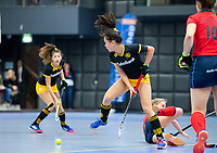 ROTTERDAM  - NK Zaalhockey,   halve finale dames Laren-Den Bosch. Laren wint. Naomi Hopman (Den Bosch).    COPYRIGHT KOEN SUYK
