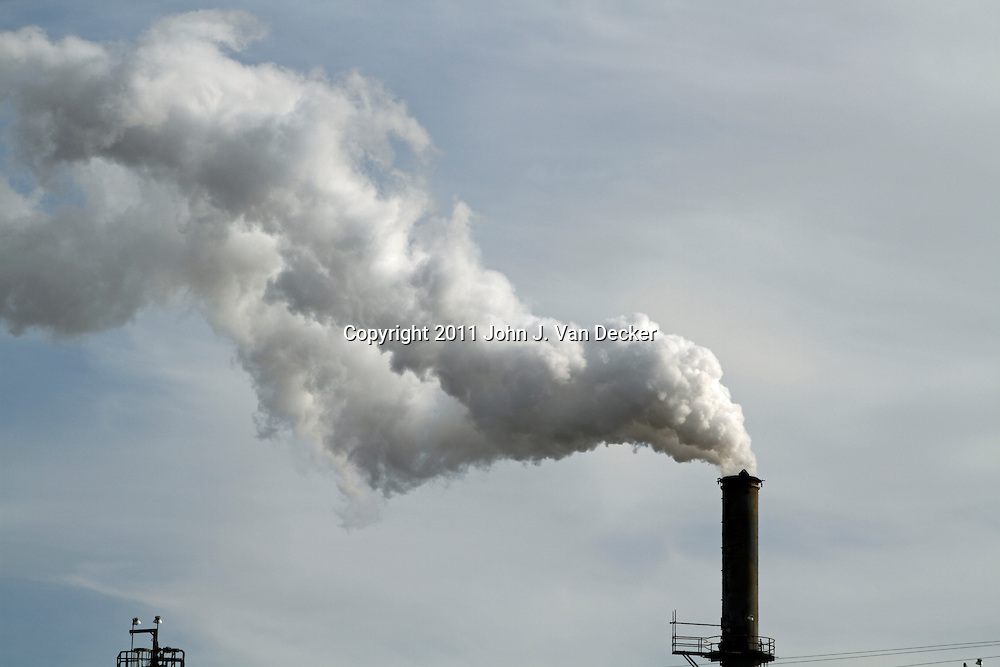 A Smokestack at the Port Reading Refinery (Hess Oil Refinery) at Perth Amboy/Woodbridge, New Jersey, USA