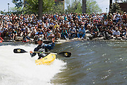 The crowd gathered to watch world champion Eric Jackson compete during the finals of the reno riverfest