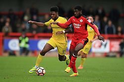 Ellis Harrison of Bristol Rovers on the attack under pressure from Andre Blackman of Crawley Town - Mandatory by-line: Jason Brown/JMP - 05/11/2016 - FOOTBALL - Checkatrade.com Stadium - Crawley, England - Crawley Town v Bristol Rovers - Emirates FA Cup first round