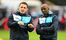 Swansea City Performance Director  Richard Buchanan talks with Swansea City Assistant Manger Claude Makelele - Mandatory by-line: Alex James/JMP - 14/01/2017 - FOOTBALL - Liberty Stadium - Swansea, England - Swansea City v Arsenal - Premier League