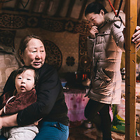 Mongolia. Ulaan Baatar 2016.<br /> <br /> Beneficiary Dolgor Bolormaa, 43, lives in the ger district with a family of 10 persons. Her family lost all their livestock in 2001 dzud because of an animal disease. If she had the opportunity she says she would like to become a herder again.