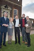MARTIN LUTYENS; BEATRIZ LUTYENS; MARCOS LUTYENS; CHRIS LONDON; DOMINIC LUTYENSPerdurity: A Moving Banquet of Time. Royal Salute curates a timeless evening at Hampton Court Palace with Marcos Lutyens, 2 June 2015.