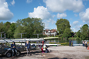 Maidenhead. Berkshire. United Kingdom. General view Competitors, boating, from the car park/trailer park. Maidenhead RC Boathouse. 2017 Maidenhead Junior Regatta  River Thames. <br /> <br /> [&copy;Peter SPURRIER/Intersport Images] Sunday. 14.05.2017
