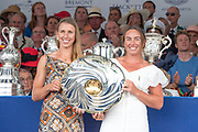 Henley on Thames, England, United Kingdom, 7th July 2019, Henley Royal Regatta, Prize Giving, The Stonor Challenge Trophy, B.C. Donoghue & O.K. Loe New Zealand, [© Peter SPURRIER/Intersport Image]<br /> <br /> 17:39:36 1919 - 2019, Royal Henley Peace Regatta Centenary,