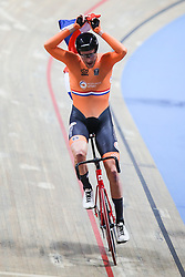 March 1, 2019 - Pruszkow, Poland - The Netherlands' Jan-Willem van Schip celebrates after winning the Men's Points Race 40 km at the UCI Track Cycling World Championships in Pruszkow, Poland, on March 1, 2019. (Credit Image: © Foto Olimpik/NurPhoto via ZUMA Press)