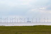 Malmö. Windmills at Öresund.