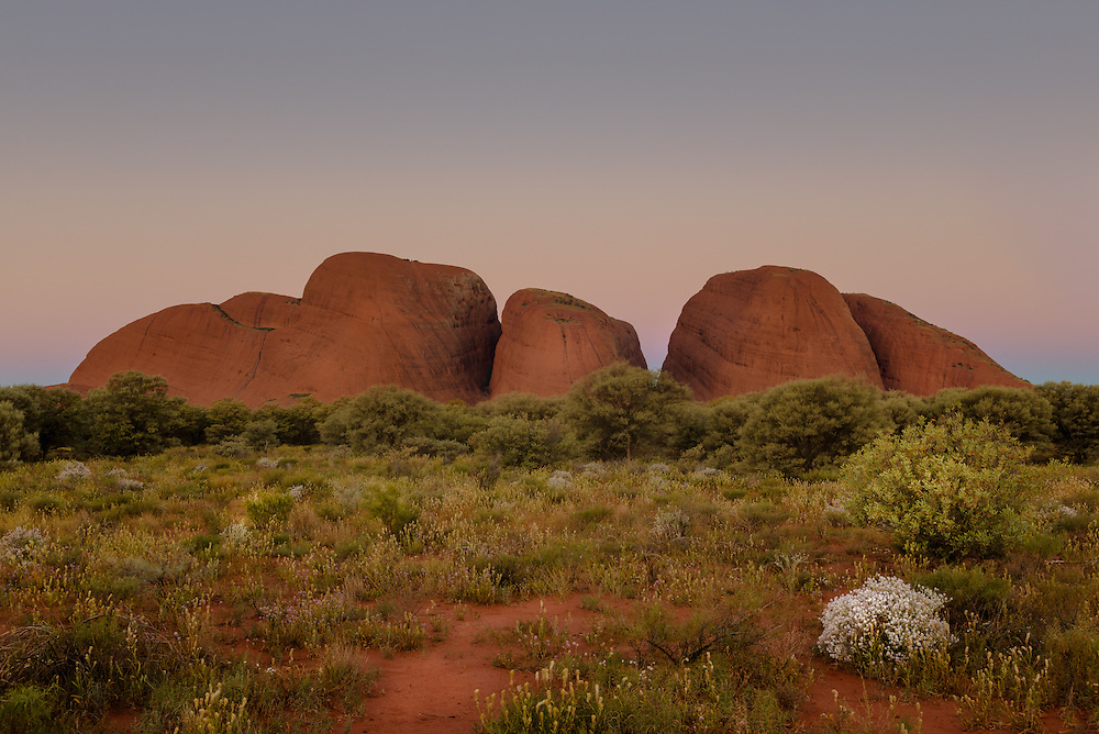 Domes of Kata Tjuta at sunset