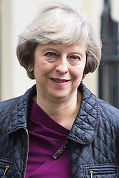 Downing Street, London, June 14th 2016. Home Secretary Theresa May leaves  10 Downing Street after attending the weekly cabinet meeting.