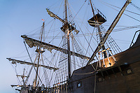 El Galeón, docked on the Mobile River in downtown Mobile, Alabama, Wednesday, Nov. 25, 2015.