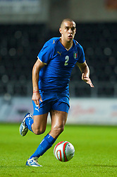 SWANSEA, ENGLAND - Friday, September 4, 2009: Italy's Giuseppe Bellusci during the UEFA Under 21 Championship Qualifying Group 3 match at the Liberty Stadium. (Photo by David Rawcliffe/Propaganda)