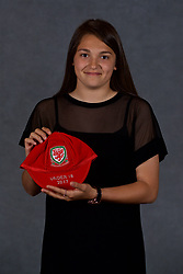 NEWPORT, WALES - Saturday, May 19, 2018: Safia Middleton-Patel during the Football Association of Wales Under-16's Caps Presentation at the Celtic Manor Resort. (Pic by David Rawcliffe/Propaganda)