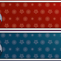 Vector illustration, Christmas themed banner, both in warm and cold colors. Large sRGB JPG provided
