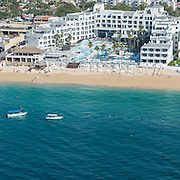 Aerial view of the ME hotel in Cabo San Lucas.
