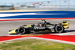 February 12, 2019 - U.S. - AUSTIN, TX - FEBRUARY 12: James Hinchcliffe (5) in a Honda powered Dallara IR-12 at turn 12 during the IndyCar Spring Training held February 11-13, 2019 at Circuit of the Americas in Austin, TX. (Photo by Allan Hamilton/Icon Sportswire) (Credit Image: © Allan Hamilton/Icon SMI via ZUMA Press)