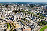Nederland, Gelderland, Arnhem, 30-09-2015; zicht op de binnenstad van Arnhem met Sint-Eusebiuskerk (Eusebius, Eusebiuskerk of Grote Kerk).<br /> <br /> View of the city of Arnhem.<br /> luchtfoto (toeslag op standard tarieven);<br /> aerial photo (additional fee required);<br /> copyright foto/photo Siebe Swart
