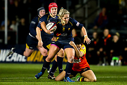 Lucy Lockhart of Worcester Warriors Women is tackled - Mandatory by-line: Robbie Stephenson/JMP - 11/01/2020 - RUGBY - Sixways Stadium - Worcester, England - Worcester Warriors Women v Richmond Women - Tyrrells Premier 15s