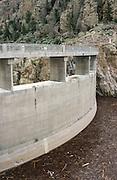 USA, Wyoming, Cody. Upstream face of the Buffalo Bill Dam.