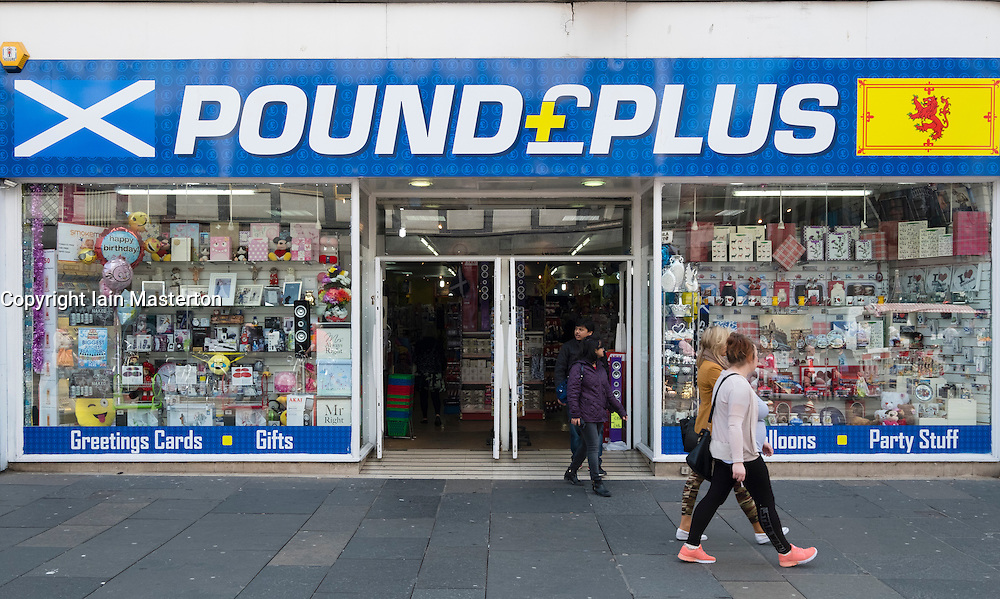 Pound Plus budget store on Argyll Street in Glasgow, Scotland, United Kingdom