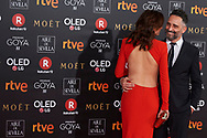 Leonor Watling, Jorge Drexler attends Goya Cinema Awards 2018 at Madrid Marriott Auditorium on February 3, 2018 in Madrid, Spain.