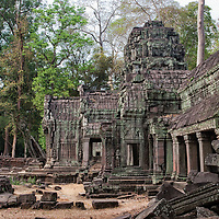 "The locations of the fascinating buddhist complex of Ta Prohm were also shown in the movie ""Tomb Raider""."