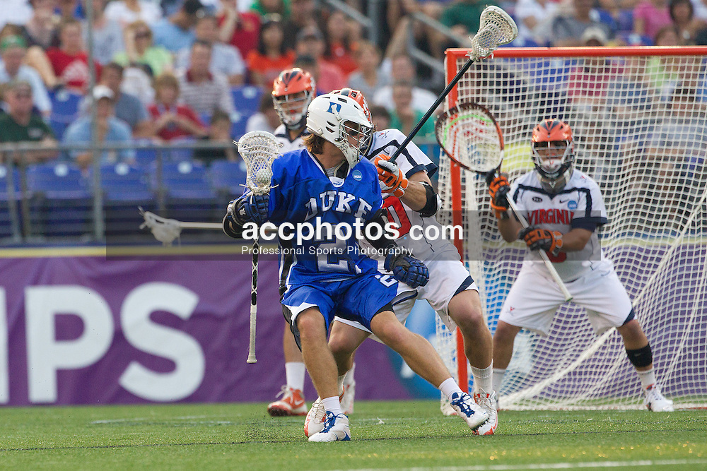 29 May 2010: Duke Blue Devils attackman Zach Howell (21) in a 14-13 win over the Virginia Cavaliers in the NCAA semifinals at M&T Bank Stadium in Baltimore, MD.