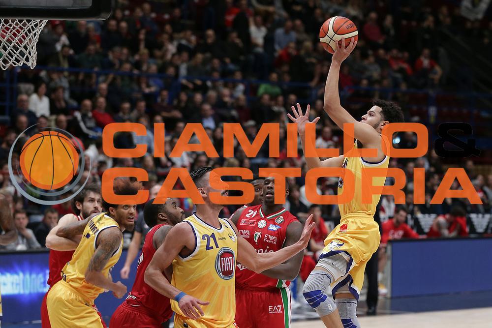 Harvey Tyler<br /> EA7 Olimpia Milano vs Auxilium Fiat Torino<br /> Lega Basket Serie A 2016/2017<br /> Milano 05/03/2017<br /> Foto Ciamillo-Castoria/A. Gilardi