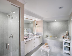 The Grand at Diamond Beach 9600 Atlantic Avenue Wildwood, NJ Designer Jeff Akseizer Master Bathroom