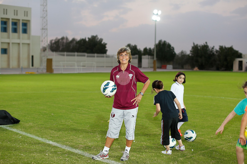 Monika Staab, football manager of the Qatar National Women'sTeam.<br />