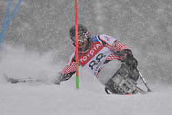 SOKOLOVIC Dino LW12-2 CRO at 2018 World Para Alpine Skiing World Cup slalom, Veysonnaz, Switzerland