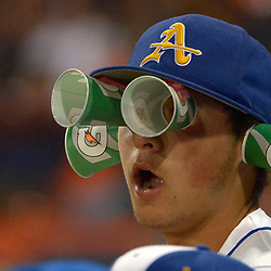 Bishop Amat with the rally Gatoraide cups in the fourth inning as Bishop Amat defeated JSerra 5-1 to win the National Classic Championship baseball game at Cal State Fullerton in Fullerton, Calif., on Thursday, April 13, 2017.