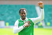 Efe Ambrose after the Ladbrokes Scottish Premiership match between Hibernian and Rangers at Easter Road, Edinburgh, Scotland on 13 May 2018. Picture by Kevin Murray.