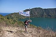 INDONESIA,Sumbawa archipelaga;, satonda  island, trekking on a volcanic crater.