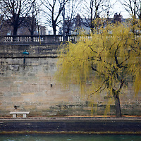 Europe, France, Paris. Seine Embankment Scene.