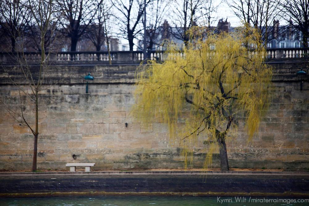 Europe, France, Paris. Seine Embankment Scene.