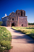 Front of Tumacacori Mission with sidewalk in foreground,  Tumacacori National Historical Park, Tumacacori, Arizona...Rights & Usage:.No rights granted. Subject photograph(s) are copyrighted by ©1989 Edward McCain/McCain Photography. All rights are reserved except those specifically granted in writing prior to any use...McCain Photography.211 S 4th Avenue.Tucson, AZ 85701-2103.(520) 623-1998.mobile: (520) 990-0999.fax: (520) 623-1190.http://www.mccainphoto.com.edward@mccainphoto.com
