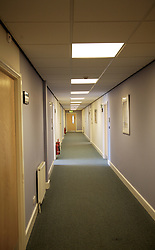 Empty corridor of office building