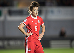 NEWPORT, WALES - Thursday, August 30, 2018: Wales' Angharad James in action during the FIFA Women's World Cup 2019 Qualifying Round Group 1 match between Wales and England at Rodney Parade. (Pic by Laura Malkin/Propaganda)