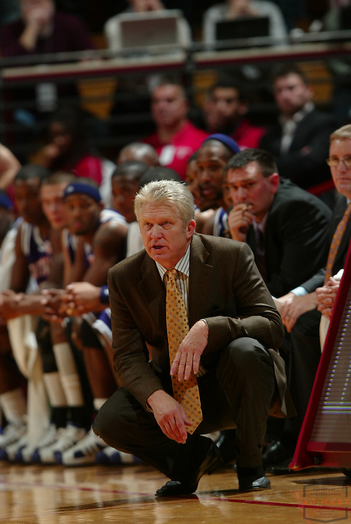 15 November 2008: Northwestern States coach Mike McConathy as the Indiana Hoosiers played the Northwestern State Demons in a college basketball game in Bloomington, Ind.