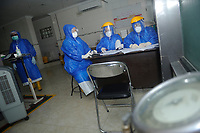 Medan, Indonesia, March 27, 2020: Hospital nurses activities seen stand by for an health complain medhical check up at a quarantine for Corona Virus Disease 19 spread warning in Medan, North Sumatra province, Indonesia on March 27, 2020.