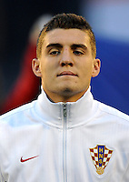 Football Fifa Brazil 2014 World Cup Matchs-Qualifier / Europe - Group A /<br /> Croatia vs Belgium 1-2  ( Maksimir Stadium - Zagreb , Croatia )<br /> Mateo KOVACIC of Croatia , during the match between Croatia and Belgium