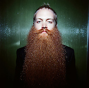 World Beard and Moustache Championships. Jack Passion natural full beard champion in Anchorage, Alaska. 2009