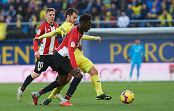 January 20, 2019 - Vila-Real, Castellon, Spain - Manu Trigueros of Villarreal and Inaki Williams of Athletic Club de Bilbao during the La Liga Santander match between Villarreal and Athletic Club de Bilbao at La Ceramica Stadium on Jenuary 20, 2019 in Vila-real, Spain. (Credit Image: © AFP7 via ZUMA Wire)