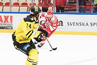 2019-01-16 | Ljungby, Sweden: Troja-Ljungby (14) Johan Lindholm during the game between IF Troja / Ljungby and Vimmerby HC at Ljungby Arena ( Photo by: Fredrik Sten | Swe Press Photo )<br /> <br /> Keywords: Icehockey, Ljungby, HockeyEttan, IF Troja / Ljungby, Vimmerby HC, Ljungby Arena, AllEttan Södra