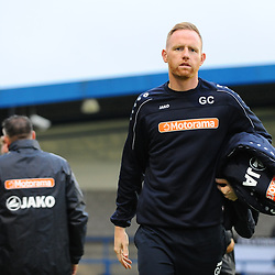 TELFORD COPYRIGHT MIKE SHERIDAN Gavin Cowan with coat during the National League North fixture between AFC Telford United and Gloucester City at the New Bucks Head Stadium on Tuesday, September 3, 2019<br /> <br /> Picture credit: Mike Sheridan<br /> <br /> MS201920-015