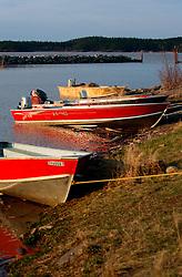 CANADA ALBERTA FORT CHIPEWYAN 11MAY07 - Small boats in the port at Fort Chipewyan, northern Alberta, Canada...jre/Photo by Jiri Rezac / WWF-UK..© Jiri Rezac 2007..Contact: +44 (0) 7050 110 417.Mobile: +44 (0) 7801 337 683.Office: +44 (0) 20 8968 9635..Email: jiri@jirirezac.com.Web: www.jirirezac.com..© All images Jiri Rezac 2007 - All rights reserved.