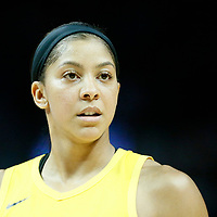 LOS ANGELES, CA - JUN 30: Candace Parker (3) of the Los Angeles Sparks reacts during a game on June 30, 2019 at the Staples Center, in Los Angeles, California.