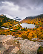 Stormy weather provided the perfect backdrop for the always stunning view from Artist's Bluff in Franconia Notch.