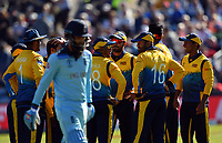 Cricket - 2019 ICC Cricket World Cup - Group Stage: England vs. Sri Lanka<br /> <br /> Sri Lanka celebrate as England's Moeen Ali is caught by Sri Lanka's Isuru Udana off the bowling of Sri Lanka's Dhananjaya de Silva, at Headingley, Leeds<br /> <br /> COLORSPORT/ASHLEY WESTERN